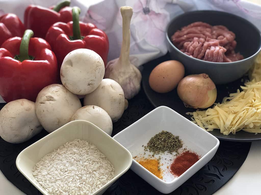 Papryka faszerowana - składniki przed przygotowaniem