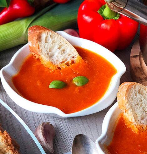 Zupa jarzynowa krem z papryką
