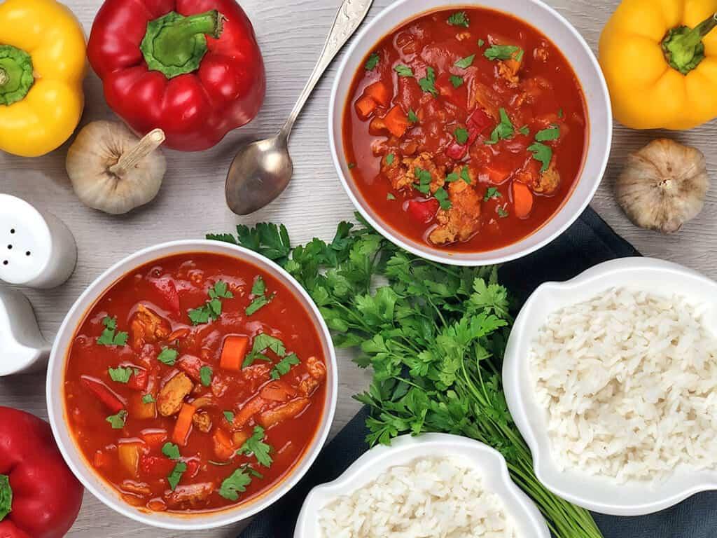 Zupa z mięsem mielonym - gotowe danie
