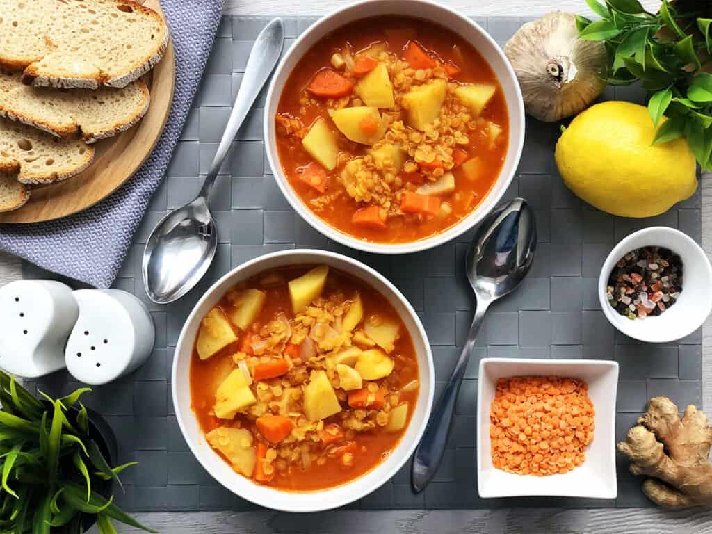 Zupa z czerwonej soczewicy - gotowe danie