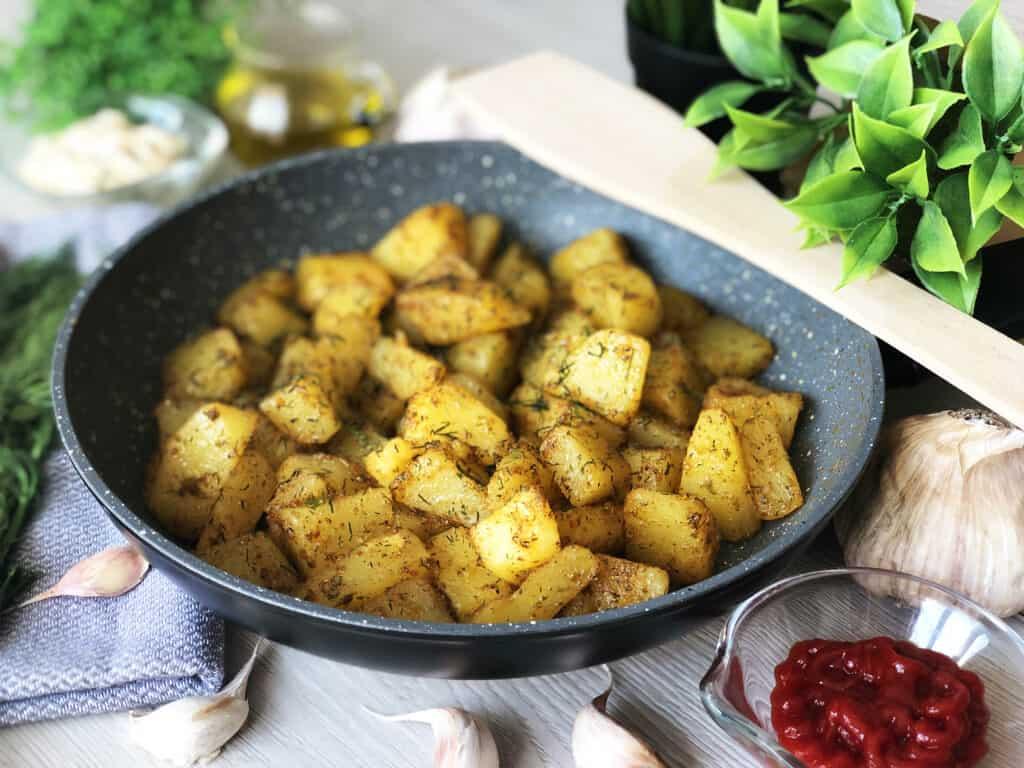 Smażone ziemniaki - gotowe danie