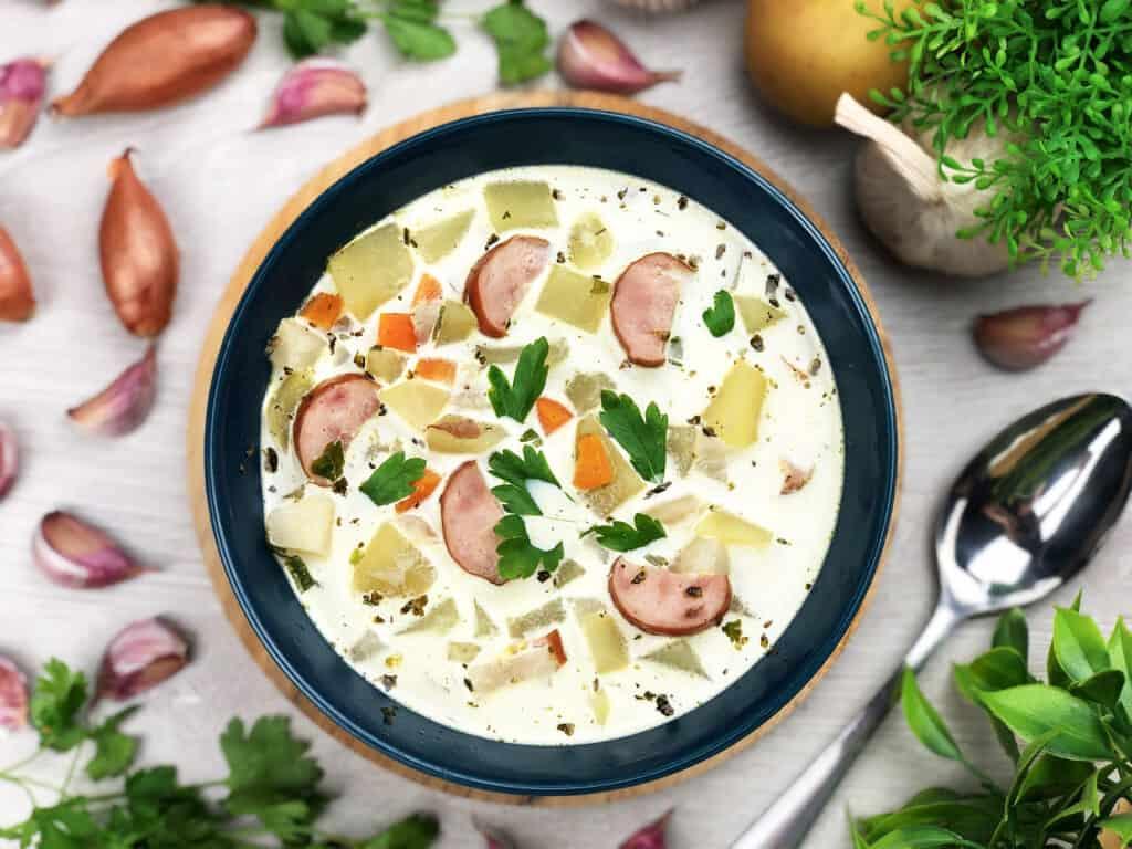 Zupa ziemniaczana - gotowe danie