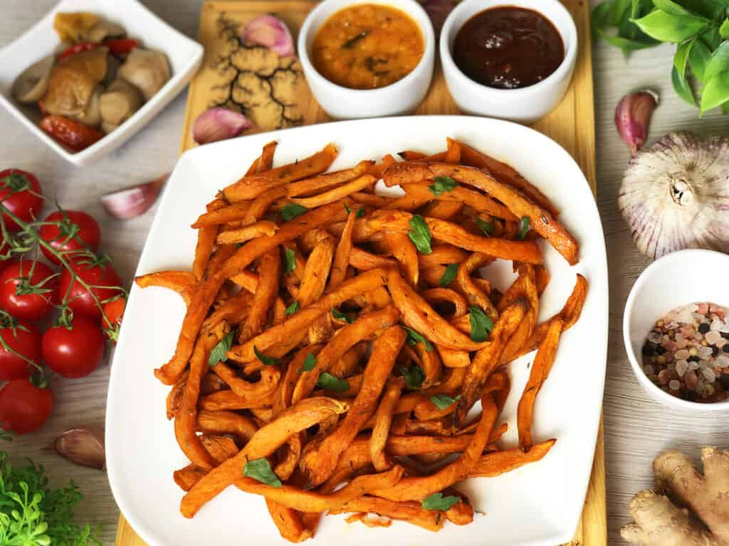 Frytki z batatów - gotowe danie