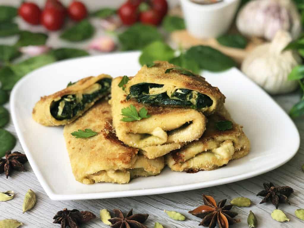 Krokiety z serem camembert i szpinakiem - gotowe danie
