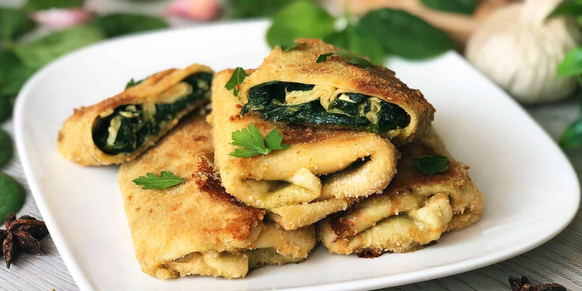 Krokiety z serem camembert i szpinakiem - propozycja przygotowania