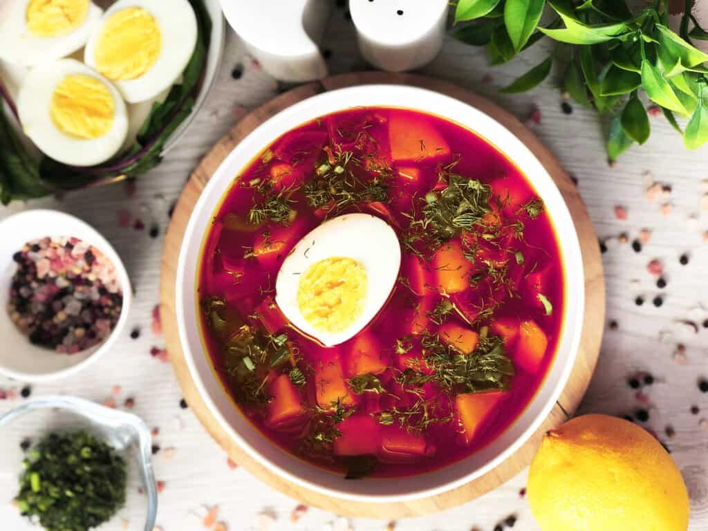 Zupa z botwiny - gotowe danie