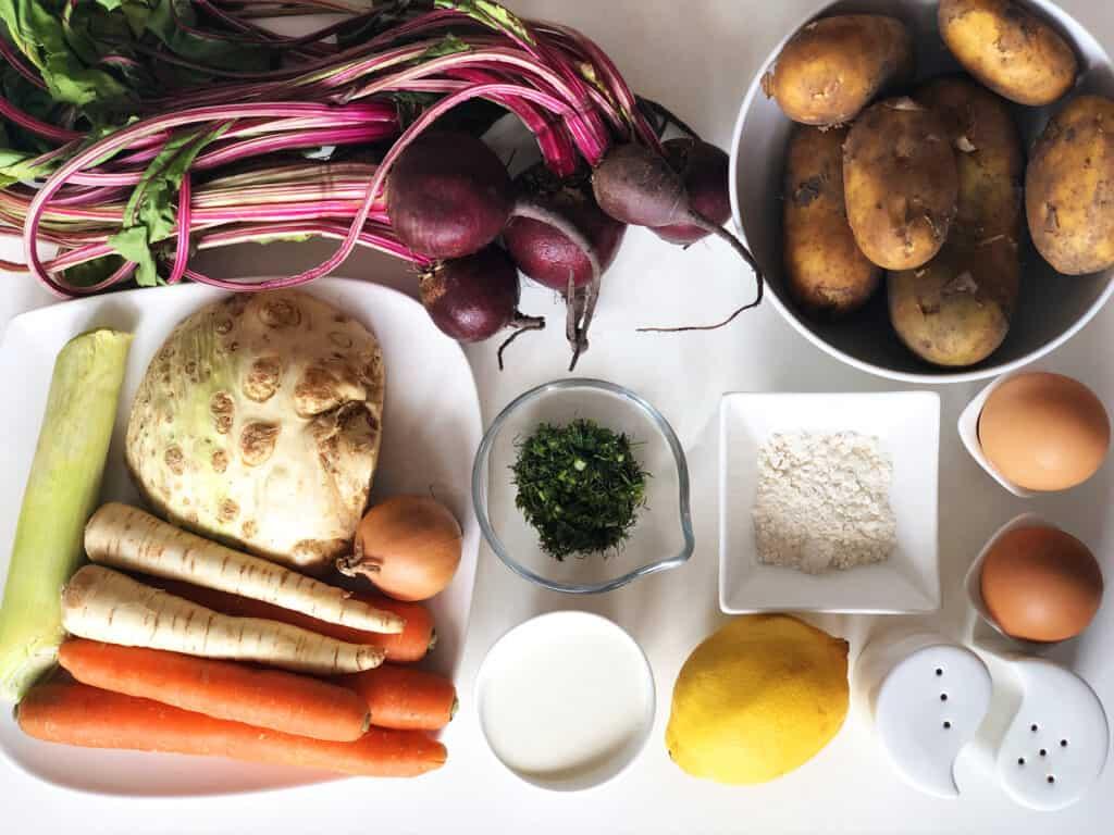 Zupa z botwiny - składniki przed przygotowaniem